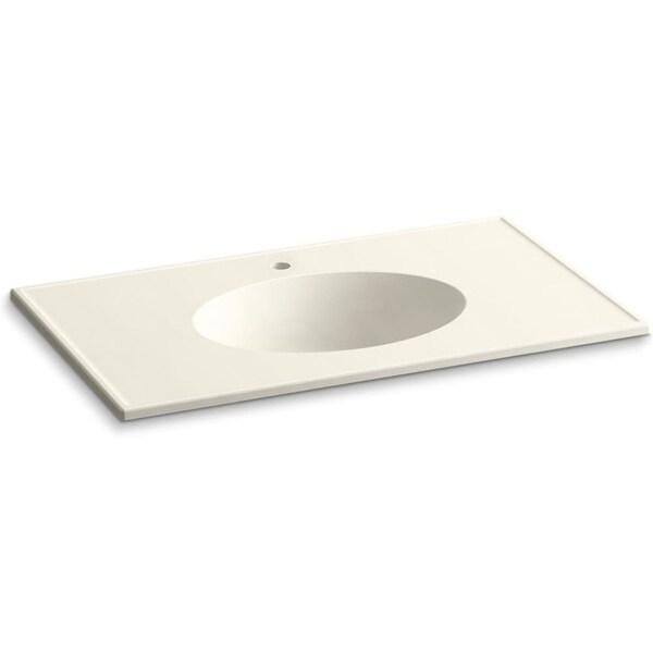 "Kohler K-2798-1 Ceramic/Impressions 37"" Vitreous China Vanity Top - Sink Included - White"