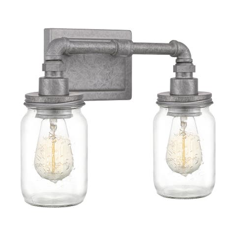 Quoizel Squire Galvanized 2-light Bath Light