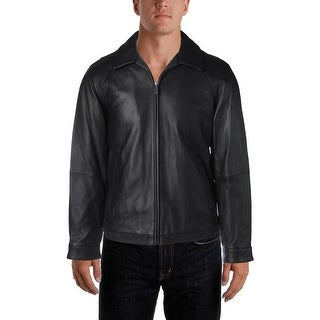 Nautica Mens Bomber Jacket Leather Winter