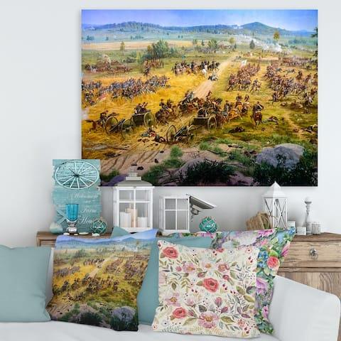 Designart 'Gettysburg National Military Park' Vintage Canvas Wall Art Print