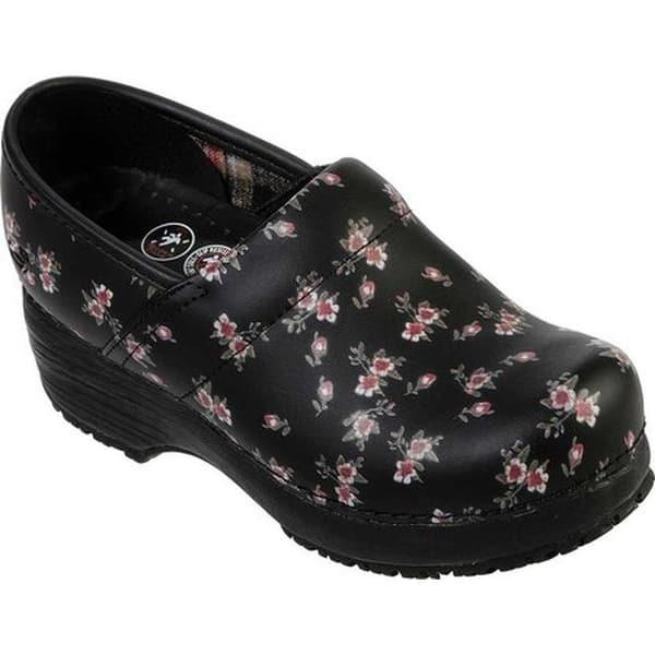 Si el viento es fuerte Poderoso  Skechers Women's Work Clog Slip Resistant Shoe Black/Pink - Overstock -  27347949