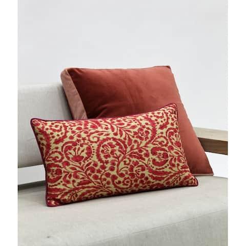 Jiti Blue Paisley Traditional Sunbrella Outdoor Pillows - 12 x 20