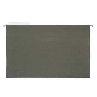 NECI 1/5 Cut Durable Recycled Hanging File Folder, Legal, Standard Green, Pack of 25