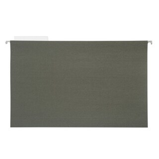Pendaflex 1/5 Cut Durable Recycled Hanging File Folder, Legal, Standard Green, Pack of 25