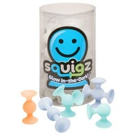 NEW Fat Brain Toys Squigz Glow-in-the-Dark Squigz Suction Building Toy - 24 Piece Set
