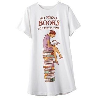 Women's So Many Books So Little Time Sleepshirt
