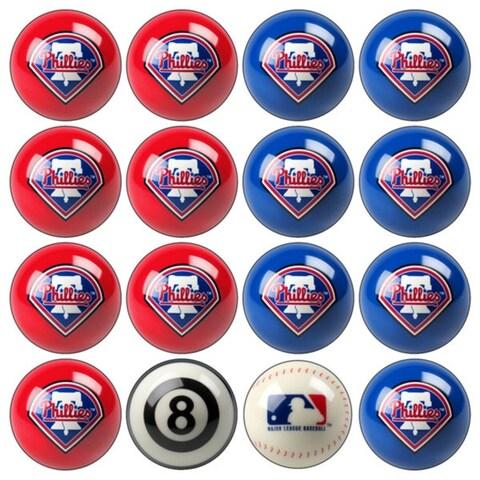 MLB Philadelphia Phillies Baseball Billiard Balls Complete Set of 16 Balls
