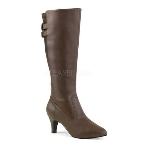 Pleaser Pink Label Women's Divine 2018 Boot Brown Faux Leather