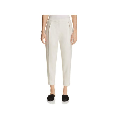 Eileen Fisher Womens Petites Ankle Pants Tencel Slouchy