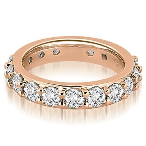 3.40 cttw. 14K Rose Gold Round Diamond Eternity Ring