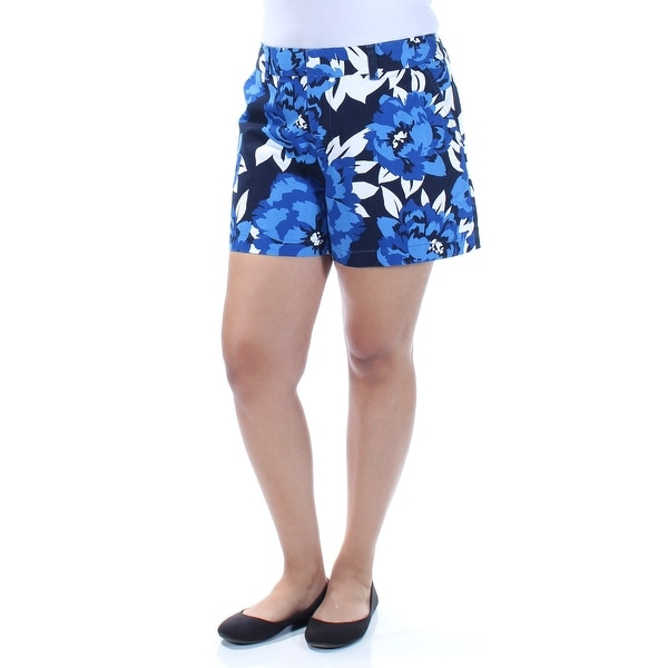 65f187131e Shop TOMMY HILFIGER Womens Blue Floral Cropped Short Size  14 - Free  Shipping On Orders Over  45 - Overstock - 22425482