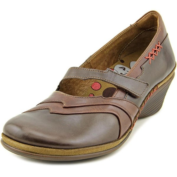 Romika Nahla 04 Women Open Toe Leather Brown Wedge Heel