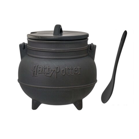 Harry Potter Ceramic Cauldron Soup Mug with Spoon - Multi