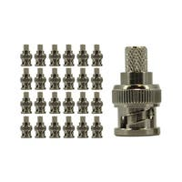 RG6 Crimp On BNC Connector, Copper, 25 pack