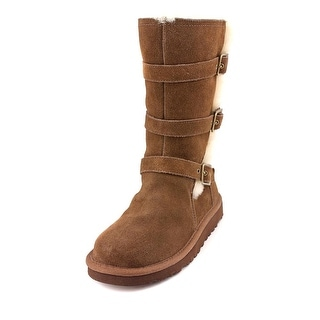 Ugg Australia Maddi Youth Round Toe Suede Brown Winter Boot