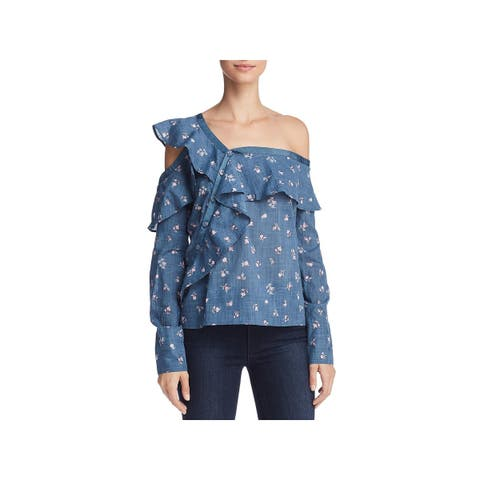 Paige Womens Marlow Top One Shoulder Floral