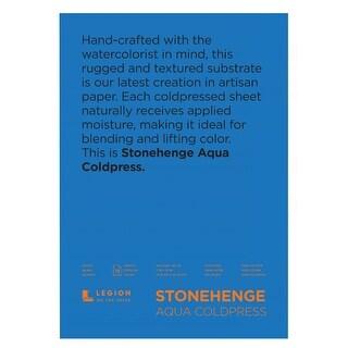 Stonehenge Aqua L21 Sqc140wh710 7 X 10 Cold Press Watercolor Block