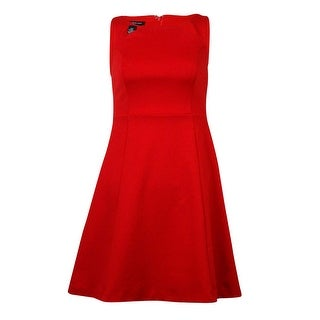 INC International Concepts Women's Cutout Ponte A-Line Dress - real red - pxs