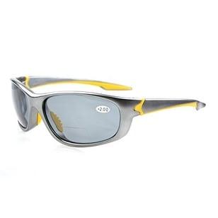 Eyekepper TR90 Unbreakable Sports Grey Lens Grey Frame Bifocal Sunglasses+1.0