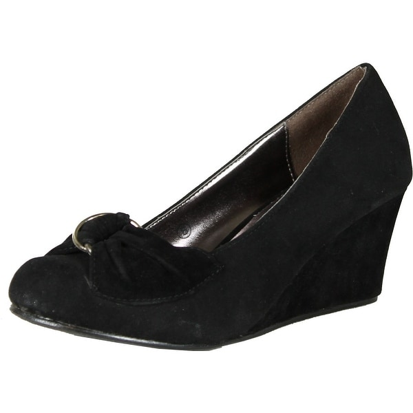 Frederics Womens Mickey Wedge Pumps Shoes - black.