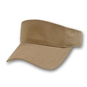 Solid Adjustable Sports Visor (Comes In Many Different Colors)