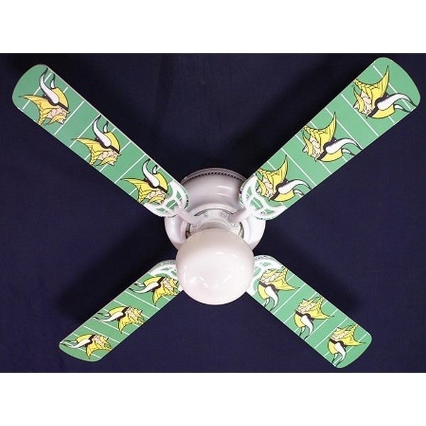 Vikings Print Blades 42in Ceiling Fan Light Kit - Multi