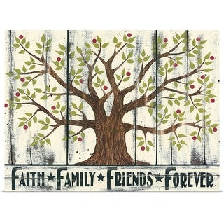 """Tree - Faith Family Friends Forever"" Poster Print"