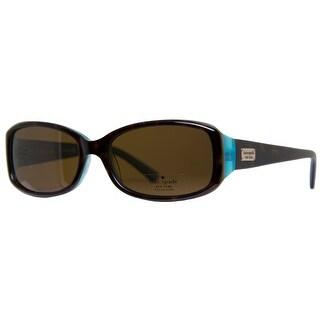 KATE SPADE Rectangular PAXTON/N/S Women's JEYP Tortoise Aqua Brown Sunglasses - 53mm-16mm-130mm