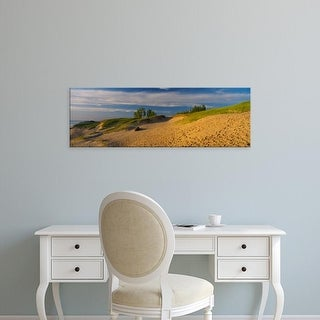 Easy Art Prints Panoramic Image 'Footprints in the sand, Sleeping Bear Dunes National Lakeshore, Michigan' Canvas Art