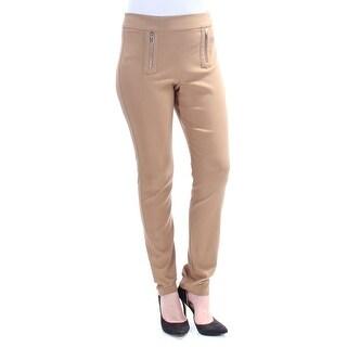 INC $70 Womens New 1358 Brown Zippered Wear To Work Pants 8 B+B