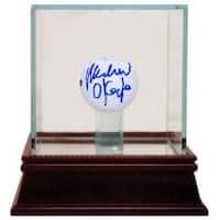 Michael OKeefe signed Bushwood Country Club Caddyshack Golf ball w Glass Case Steiner Hologram