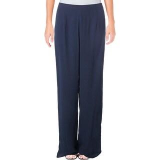 SLNY Womens Dress Pants Chiffon Wide Leg - 6