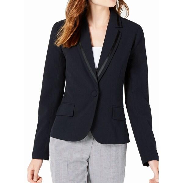 XOXO Suit Blazer Navy Blue Size Medium M Junior Career Notched collar