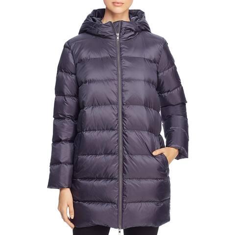 Eileen Fisher Womens Puffer Coat Winter Printed