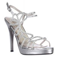 E! Live From The Red Carpet Platform Dress Sandals, Silver Metallic - 6.5 US
