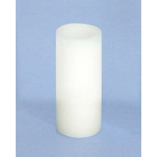 "Pack of 6 White Flameless Wax LED Pillar Candles w/Timer 1.75"" x 4"" - N/A"