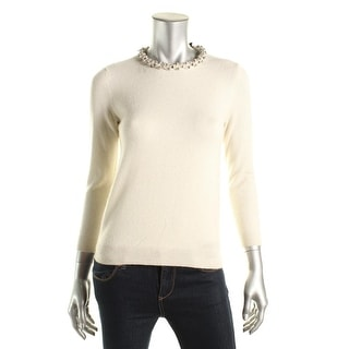 Private Label Womens Cashmere Embellished Pullover Sweater - XS
