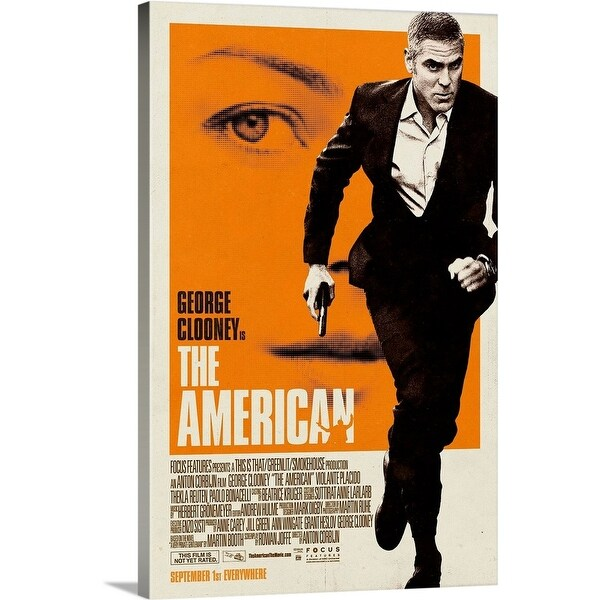 Solid-Faced Canvas Print entitled The American - Movie Poster
