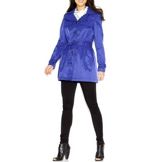 Steve Madden Hooded Belted Trench Coat Jacket - L