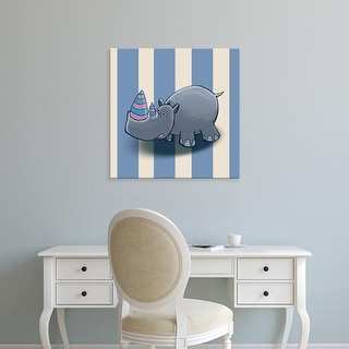 Easy Art Prints GraphINC's 'Rhino' Premium Canvas Art