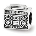 Sterling Silver Reflections Boombox Bead (4mm Diameter Hole) - Thumbnail 0