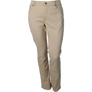 Lauren Ralph Lauren Womens Straight Leg Jeans Solid Five Pocket
