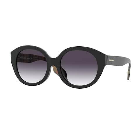Burberry BE4304D 37738G 55 Black Woman Round Sunglasses