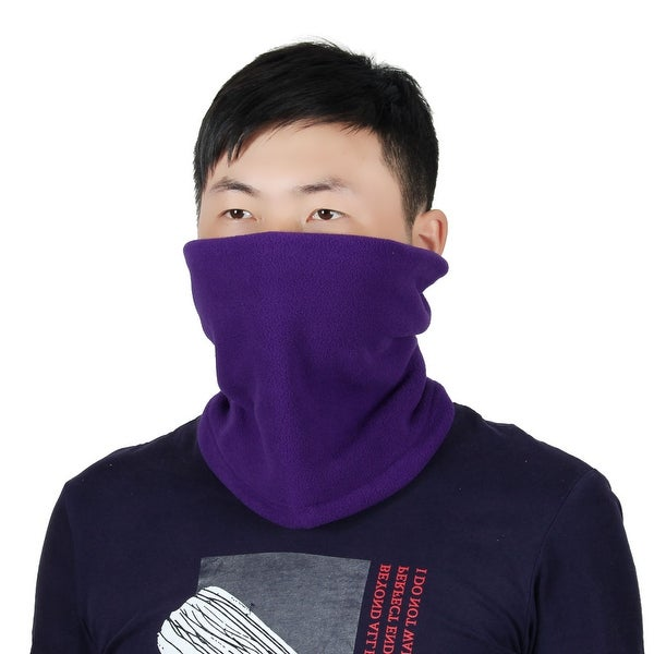 Adjustable Face Mask Winter Neck Tube Protector Outdoor Cycling Scarf Purple
