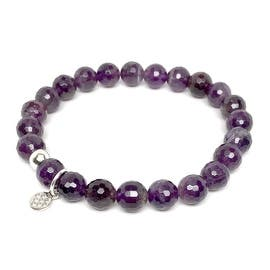 """Purple Amethyst Lucy 7"""" Bracelet