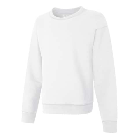 Hanes ComfortSoft EcoSmart Girls' Crewneck Sweatshirt - Size - XS - Color - White