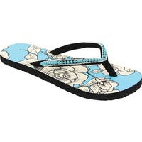 Western Chief Women's Marie Flip Flop Turquoise Rose Synthetic