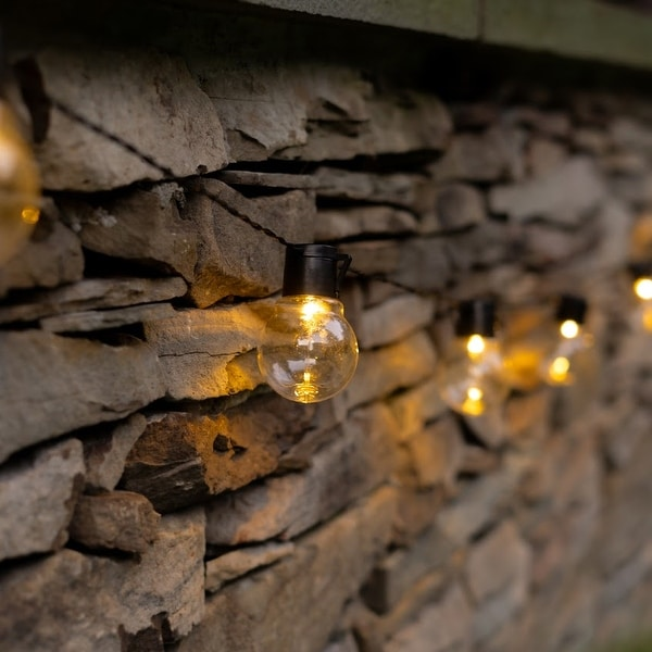 SOCIALITE Solar Powered LED Patio Bulb String Lights. Opens flyout.