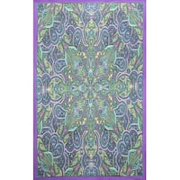 Kaleidoscope Paisley Indian Throw Tablecloth Bedspread Spread Beach Sheet Bed sheet Twin 60x90 Gorgeous