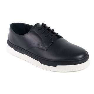 Valentino Men's Black Point Break Leather Derby Sneakers